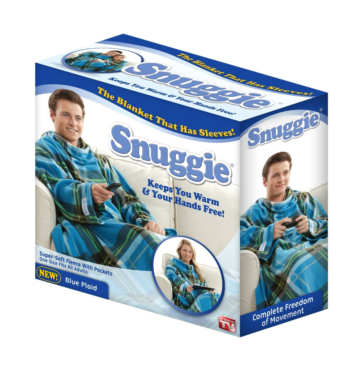 snuggie seen tv blanket amazon sleeves items pockets reship kitchen blankets plaid wearable