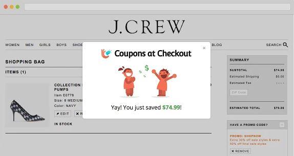 coupons at checkout